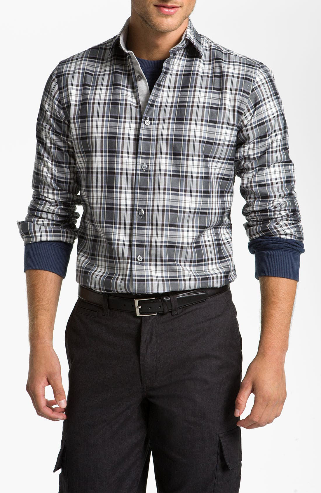 Alternate Image 1 Selected - Hickey Freeman Plaid Sport Shirt
