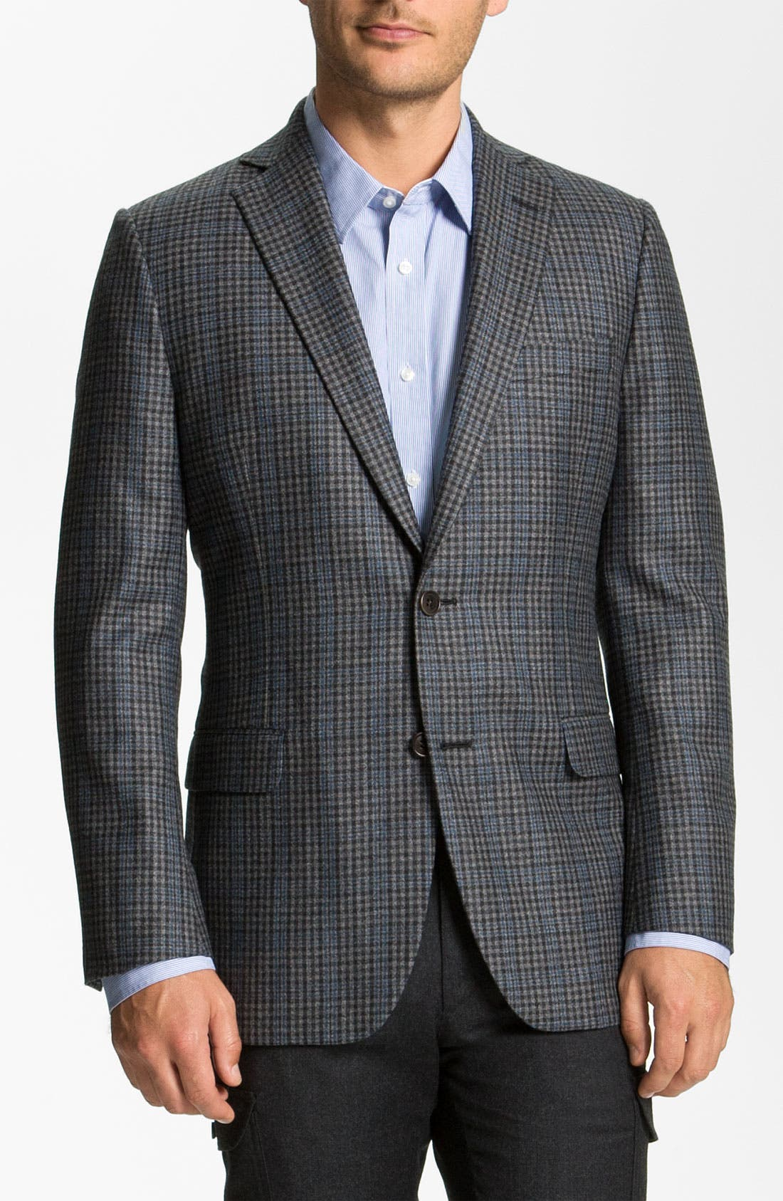 Alternate Image 1 Selected - Brooks Brothers Check Sportcoat