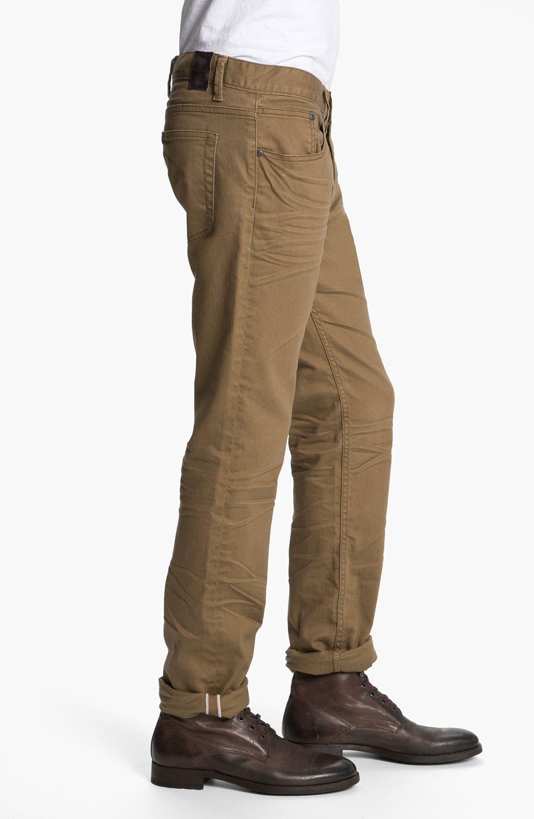 Alternate Image 3  - Zanerobe 'Straight Mate' Slim Straight Leg Jeans (Tan)