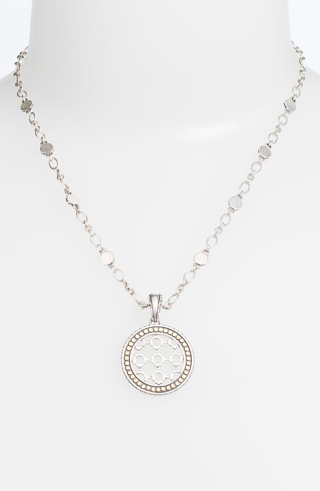 Alternate Image 1 Selected - John Hardy 'Dot' Round Pendant Necklace