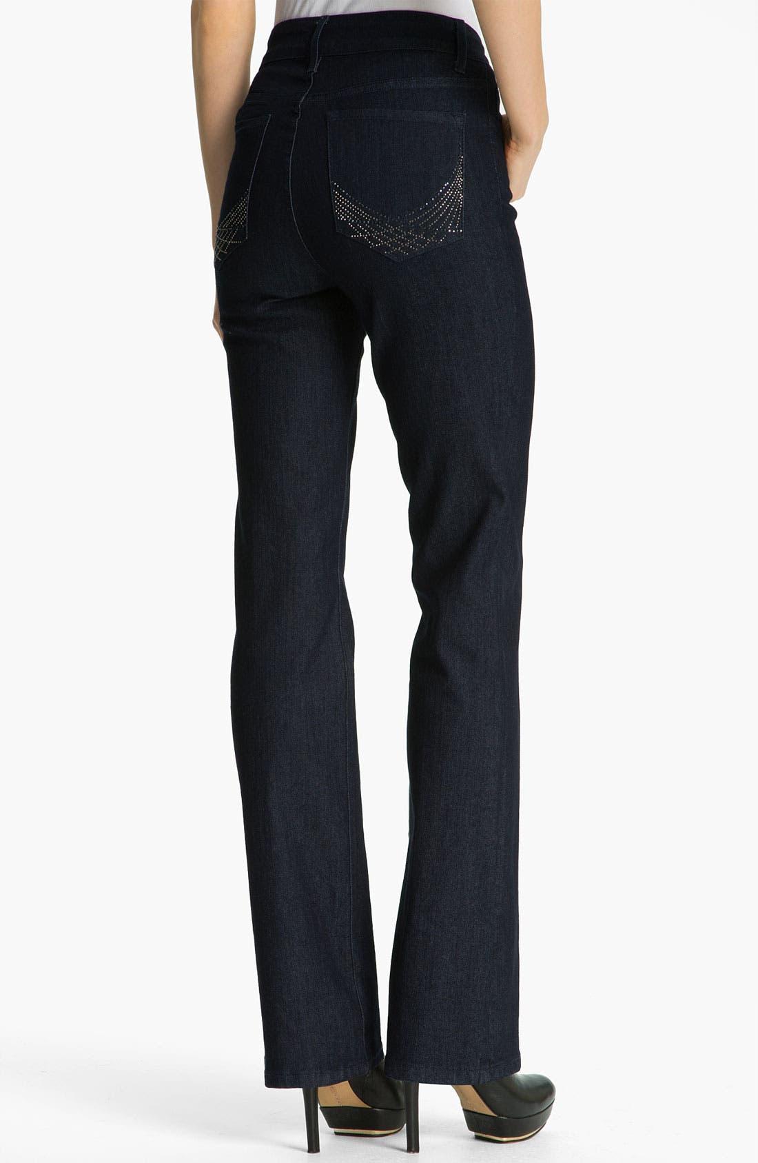 Alternate Image 2  - NYDJ Embellished Bootcut Jeans (Petite)