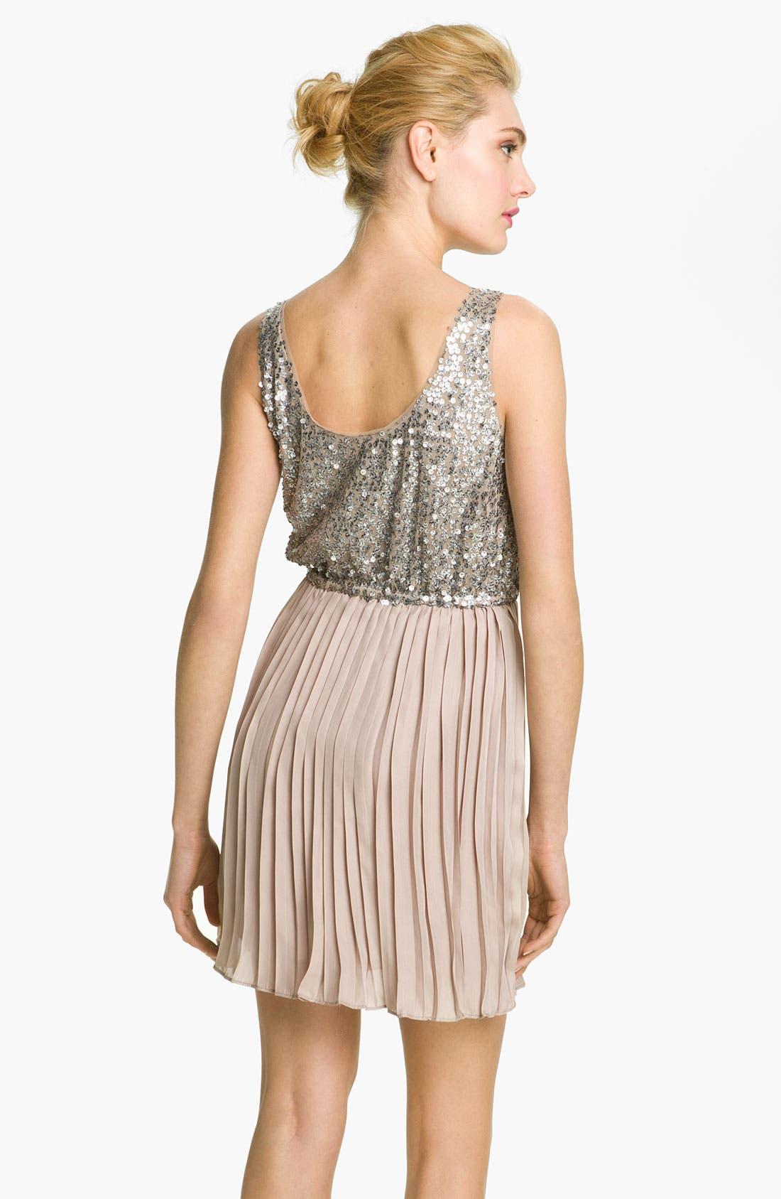Alternate Image 2  - BB Dakota 'Olsen' Sequin & Chiffon Blouson Dress
