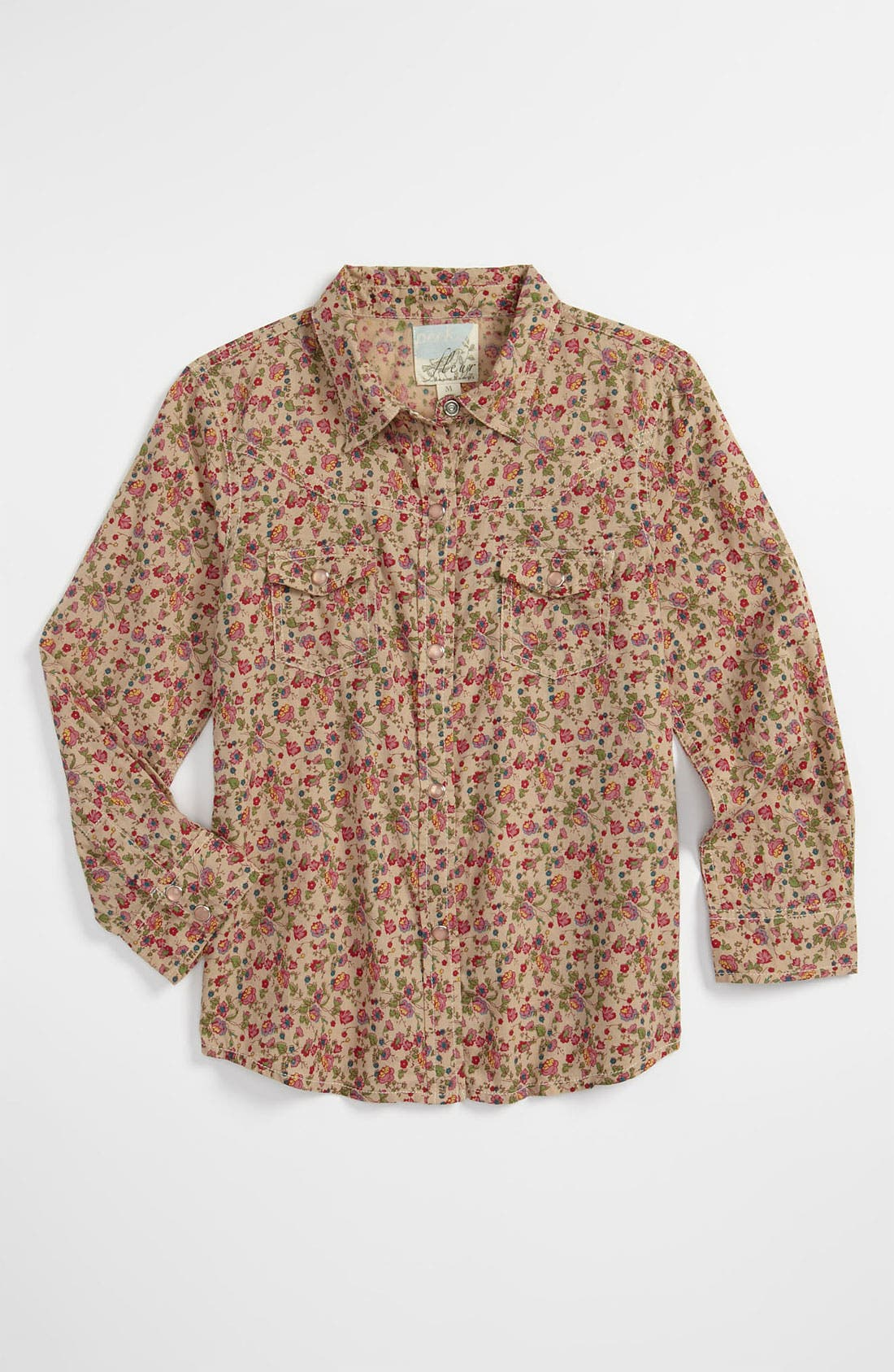 Alternate Image 1 Selected - Peek 'Rose' Western Top (Toddler, Little Girls & Big Girls)