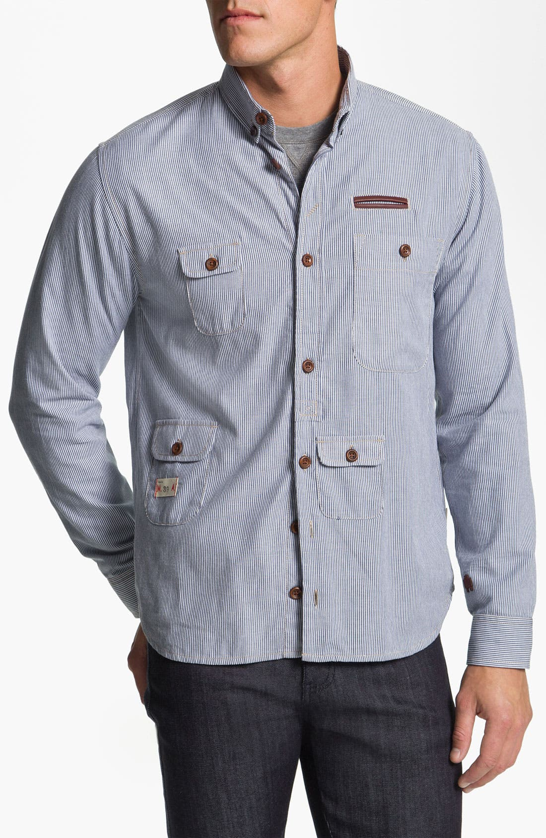 Main Image - Marshall Artist Stripe Work Shirt