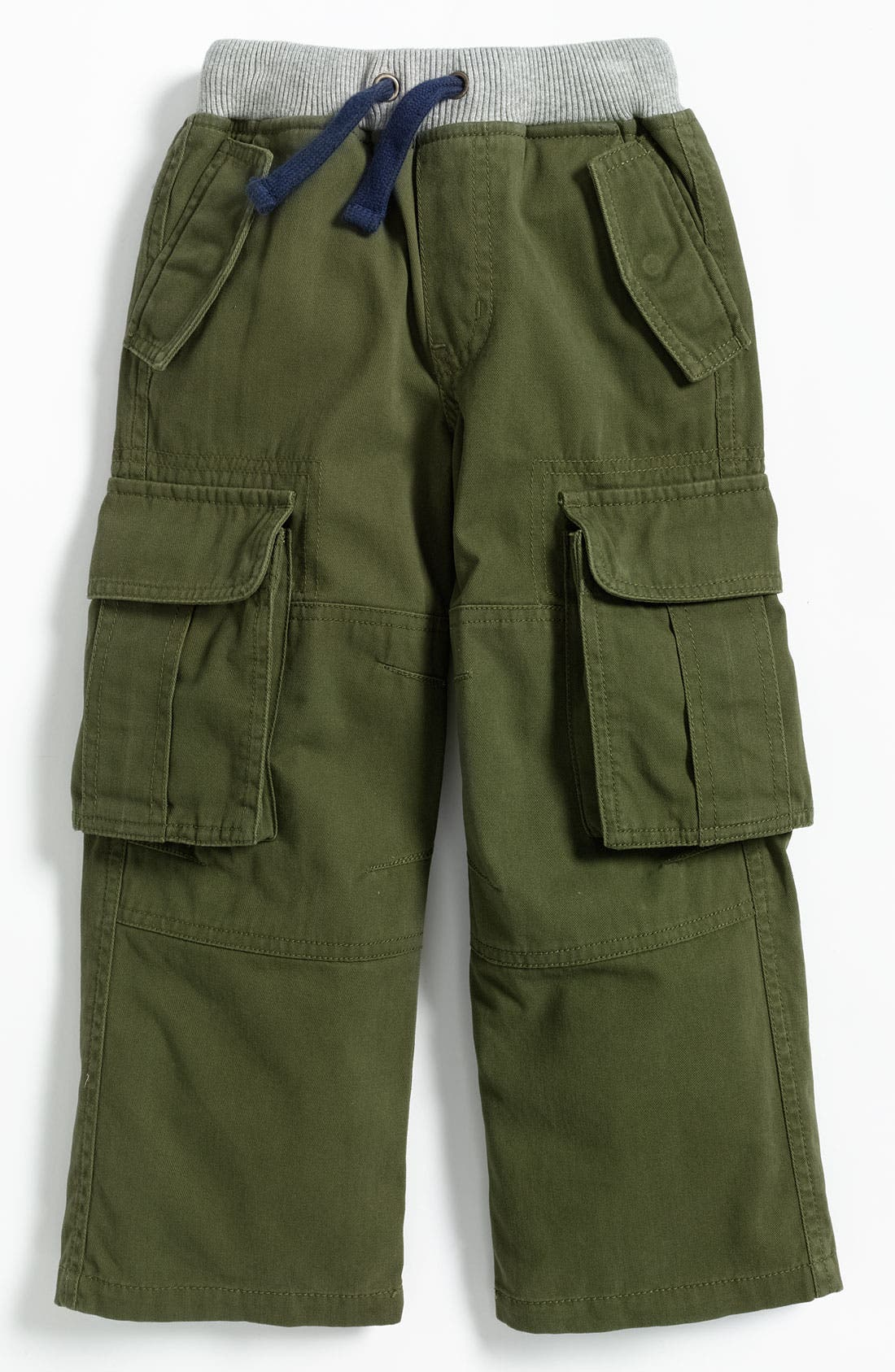Alternate Image 1 Selected - Mini Boden Ribbed Waist Cargo Pants (Little Boys)