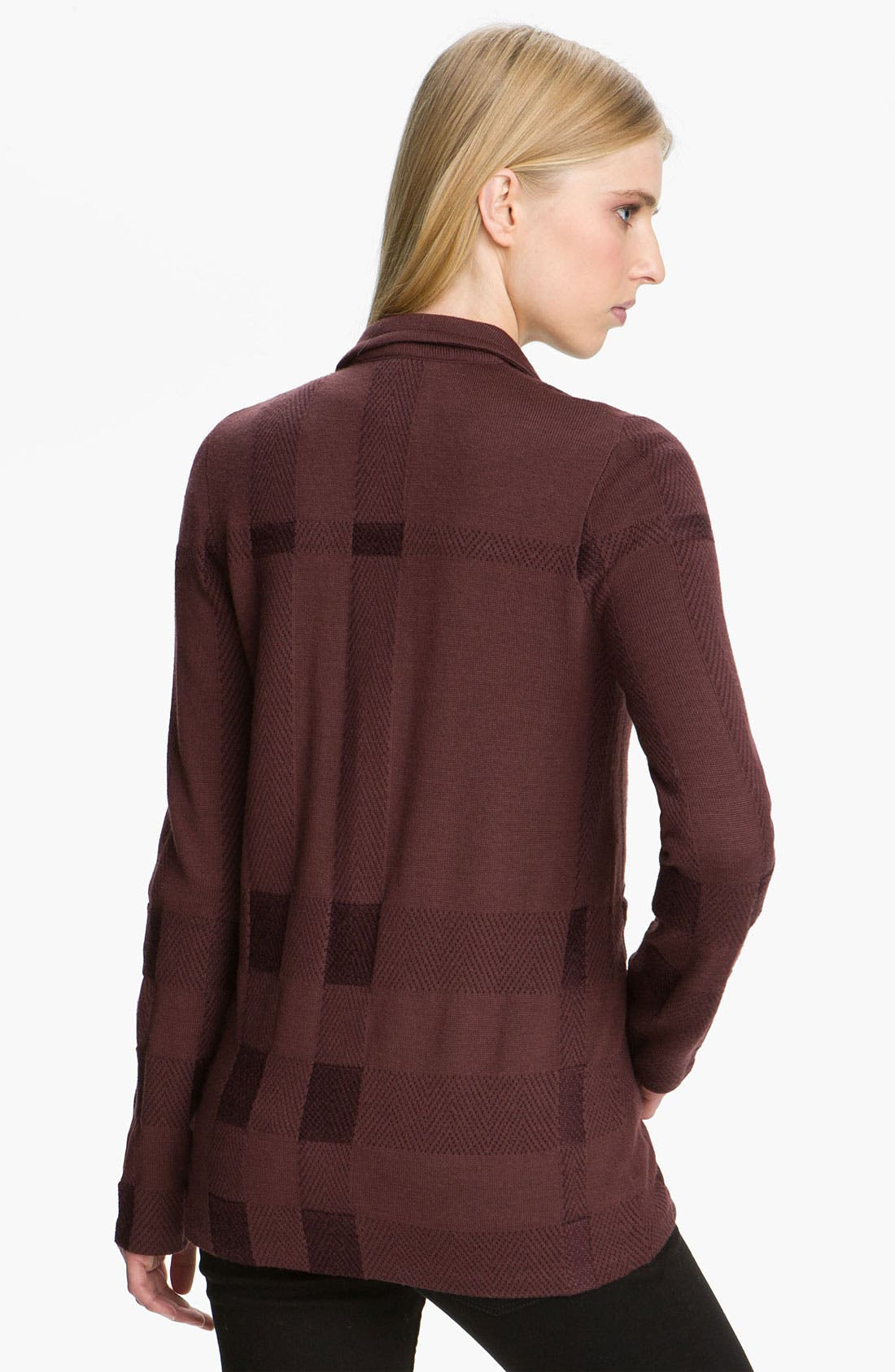 Alternate Image 2  - Burberry Brit Jacquard Check Cardigan (Online Exclusive)