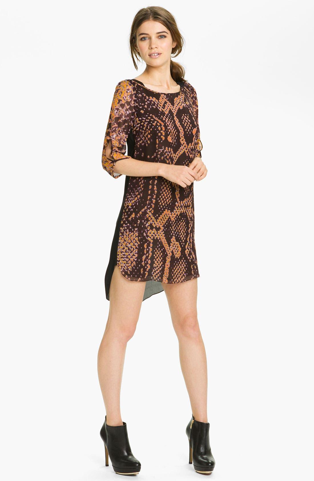 Main Image - Rebecca Minkoff 'Wednesday' Snake Print Dress