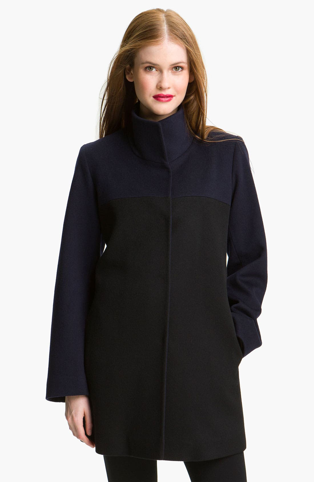 Main Image - Fleurette Two Tone Wool Coat (Online Exclusive)