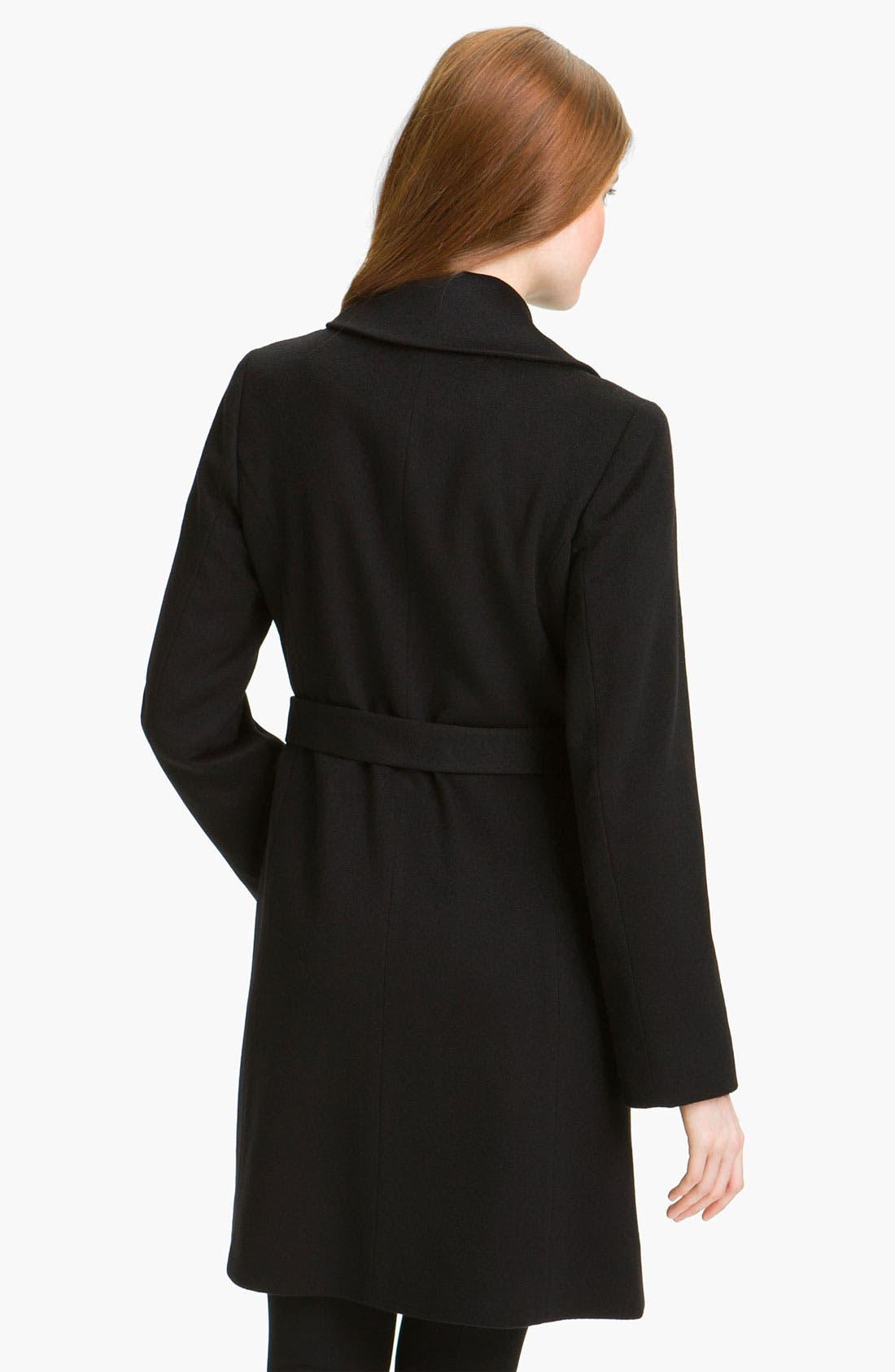 Alternate Image 2  - Fleurette Cashmere Wrap Coat (Online Exclusive)