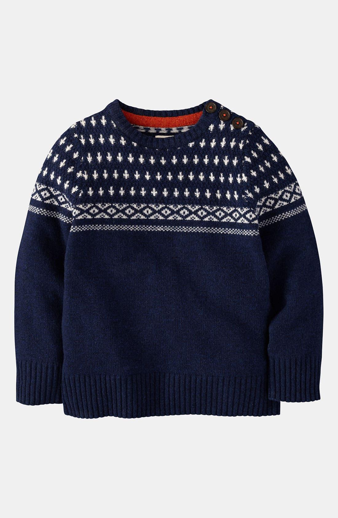 Alternate Image 1 Selected - Mini Boden Sweater (Toddler, Little Boys & Big Boys)