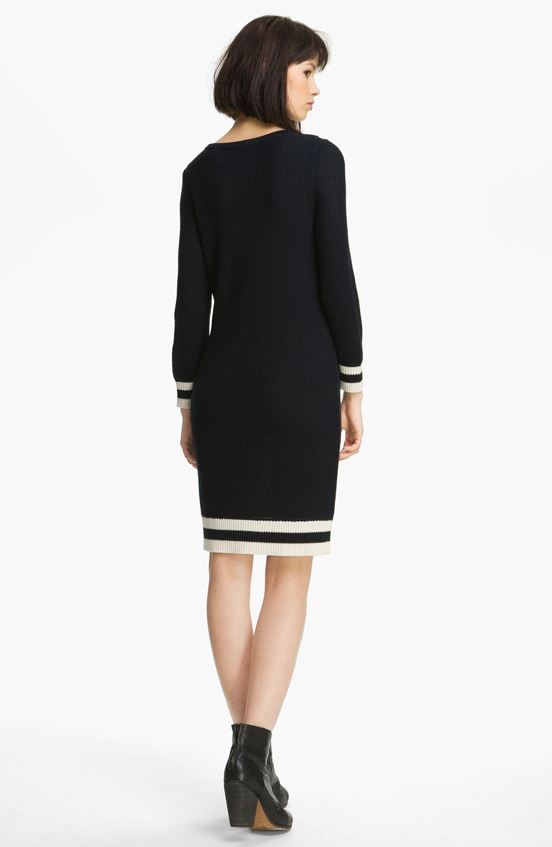 Alternate Image 2  - rag & bone/KNIT 'Allison' Contrast Trim Dress