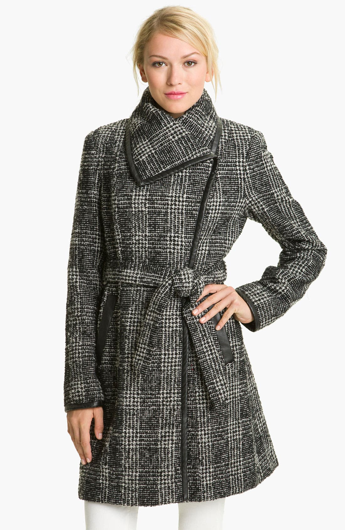 Alternate Image 1 Selected - Vince Camuto Plaid Wrap Coat
