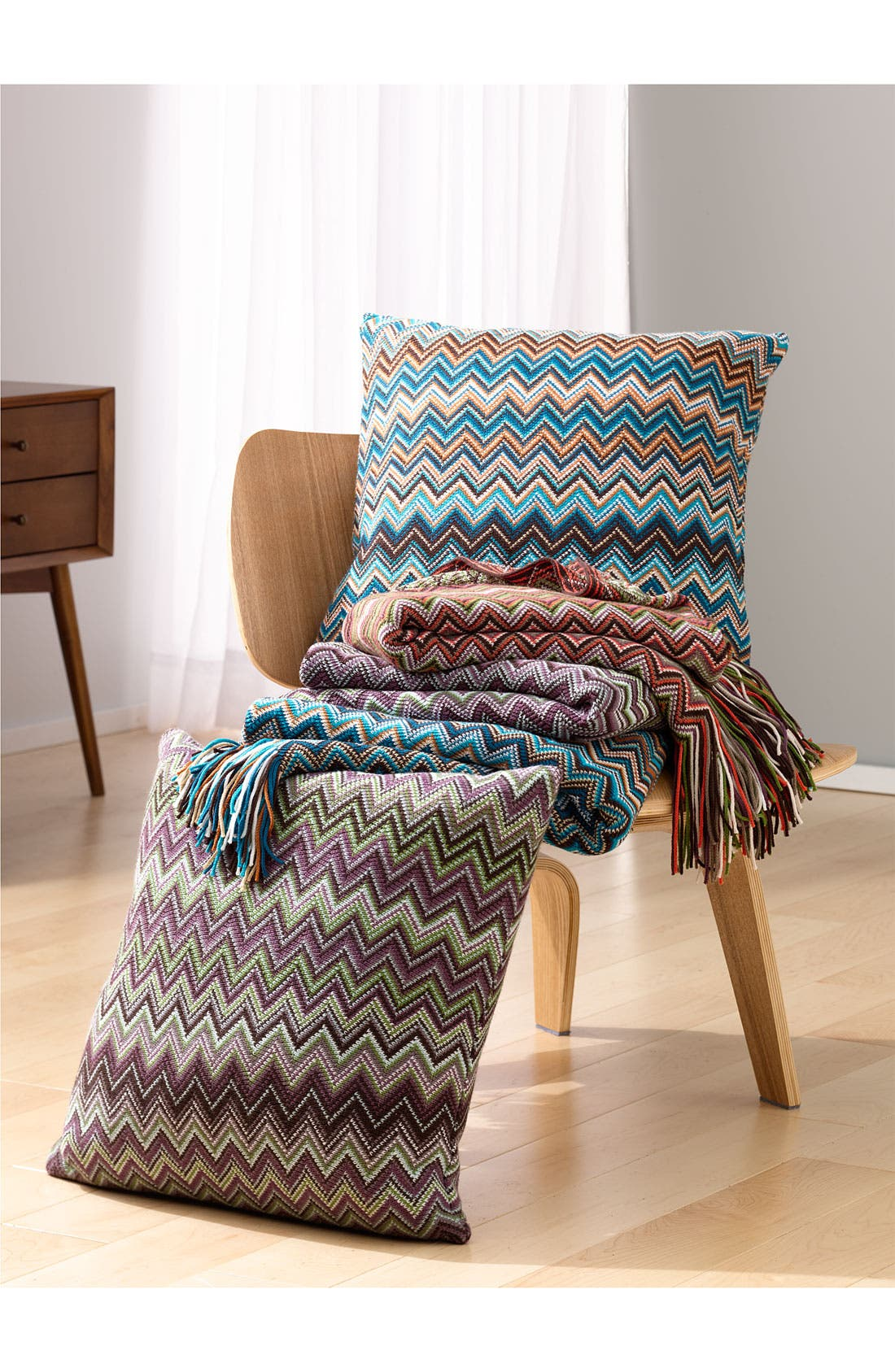 Alternate Image 3  - Kennebunk Home 'Caitlin' Chevron Knit Throw