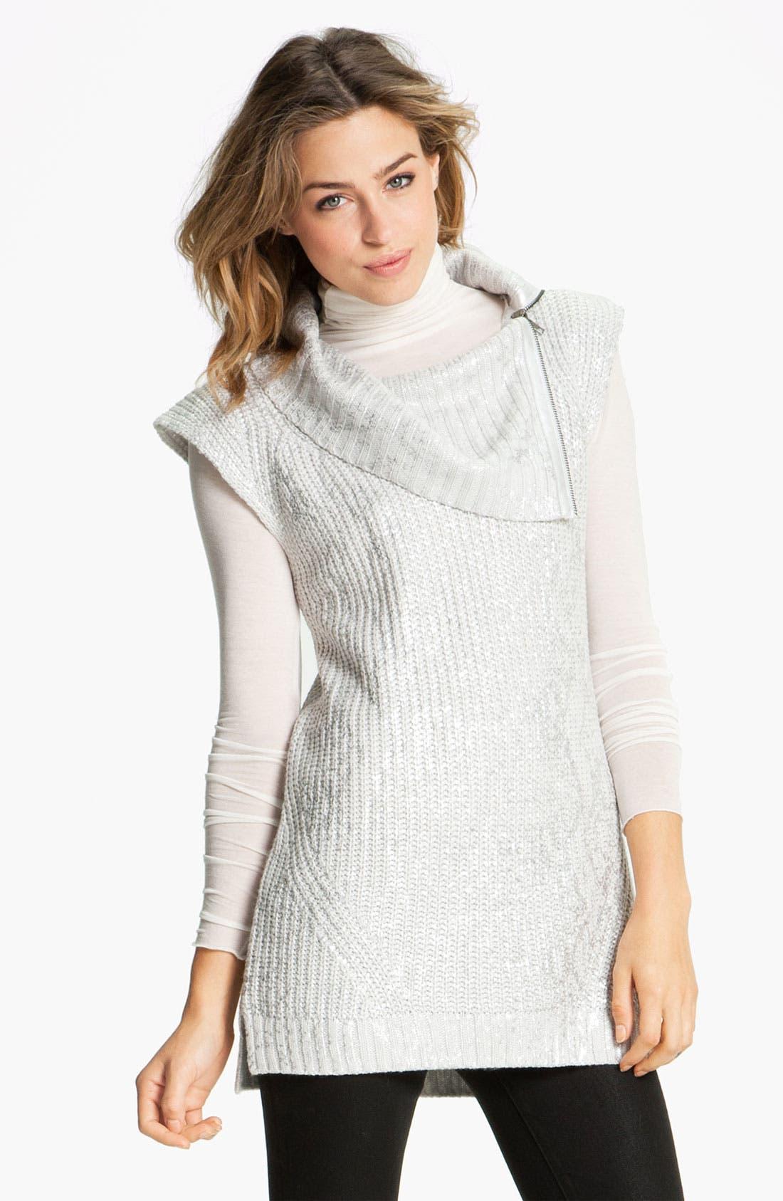 Main Image - Trouvé Metallic Sweater Vest