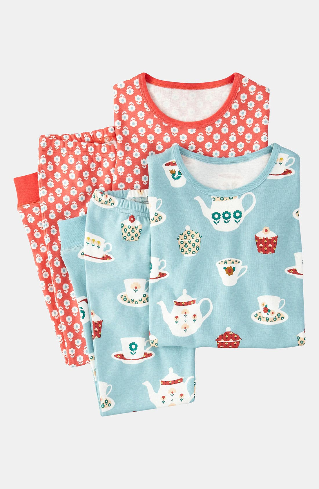Alternate Image 1 Selected - Mini Boden Fitted Pajamas (2-Pack) (Little Girls & Big Girls)