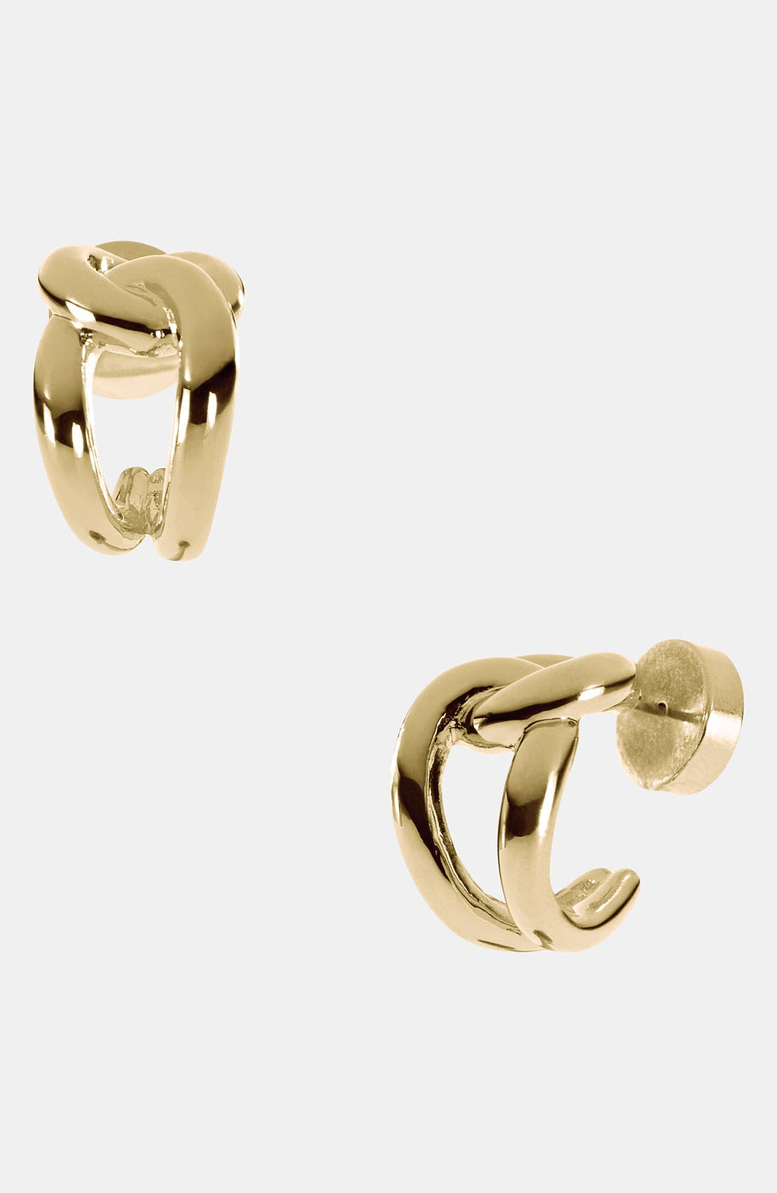 Alternate Image 1 Selected - Michael Kors 'Equestrian Luxury' Knot Hoop Earrings