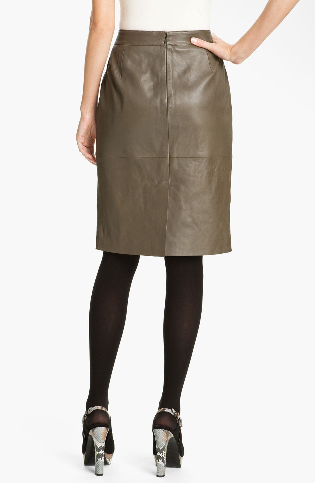 Alternate Image 2  - Classiques Entier® 'Brenna' Leather Pencil Skirt