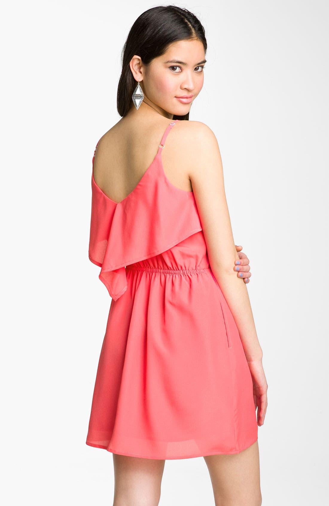 Alternate Image 2  - Mimi Chica Scarf Dress (Juniors)