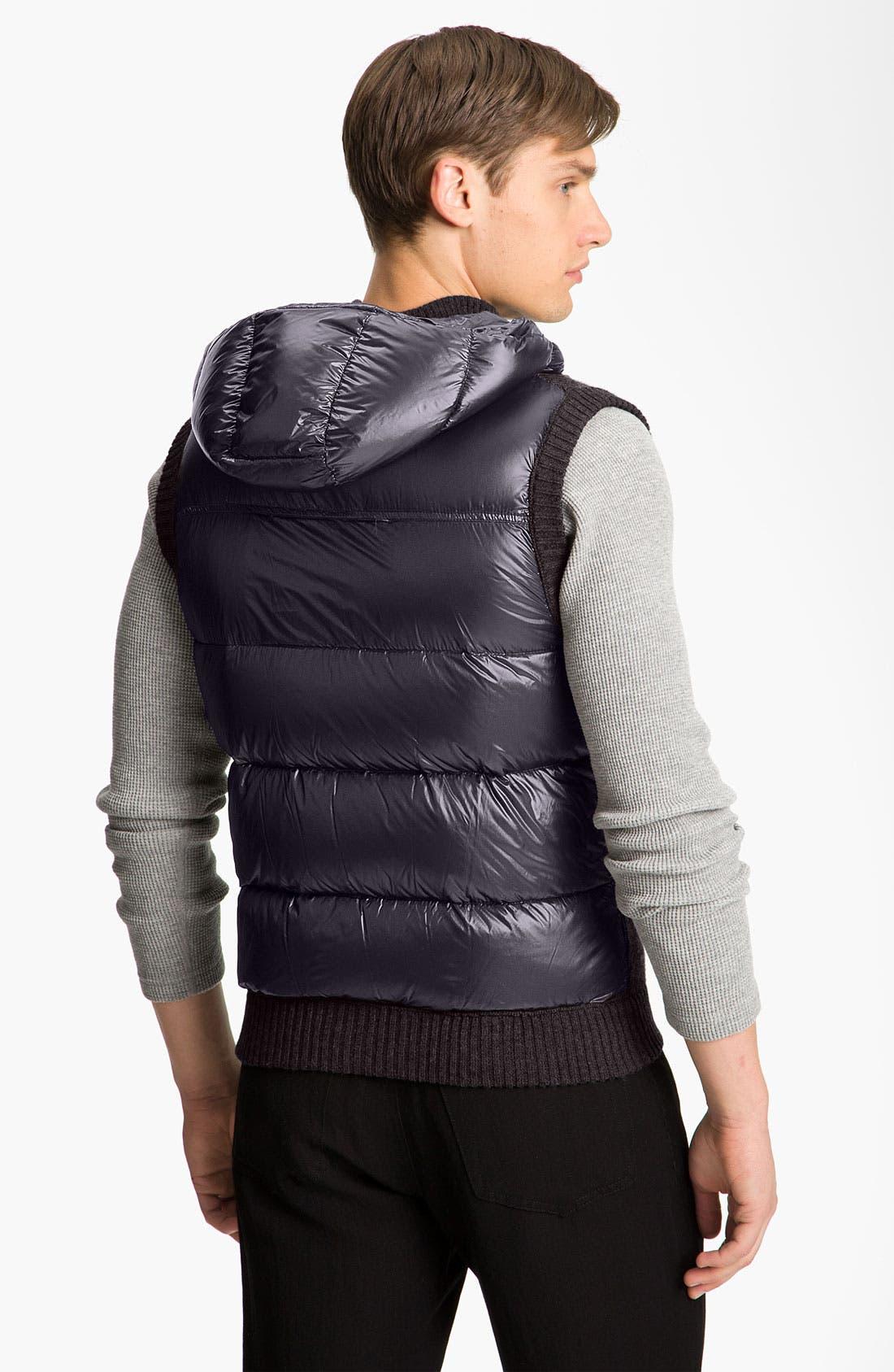 Alternate Image 2  - Moncler Knit & Quilted Hooded Vest