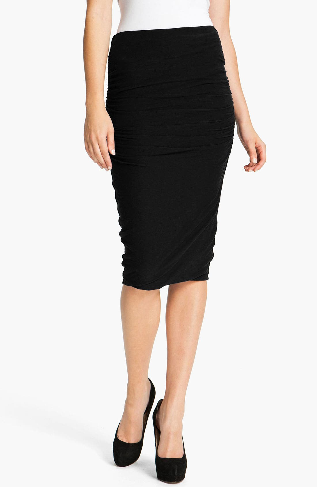 Alternate Image 1 Selected - James Perse Ruched Pencil Skirt