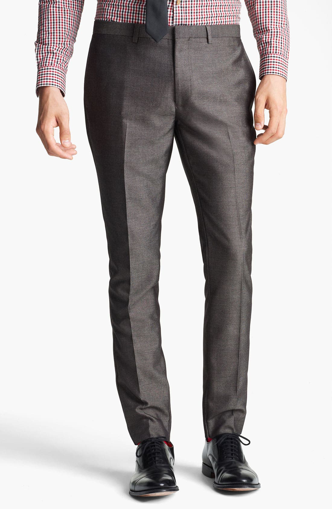 Alternate Image 1 Selected - Topman 'Taylor' Skinny Trousers