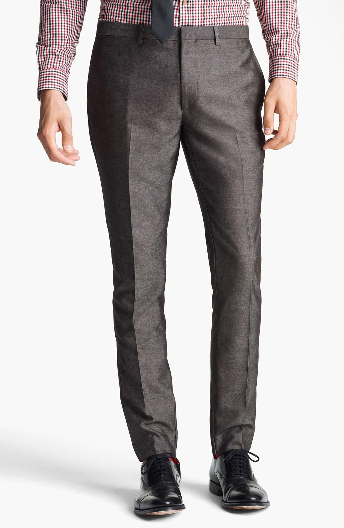 Main Image - Topman 'Taylor' Skinny Trousers