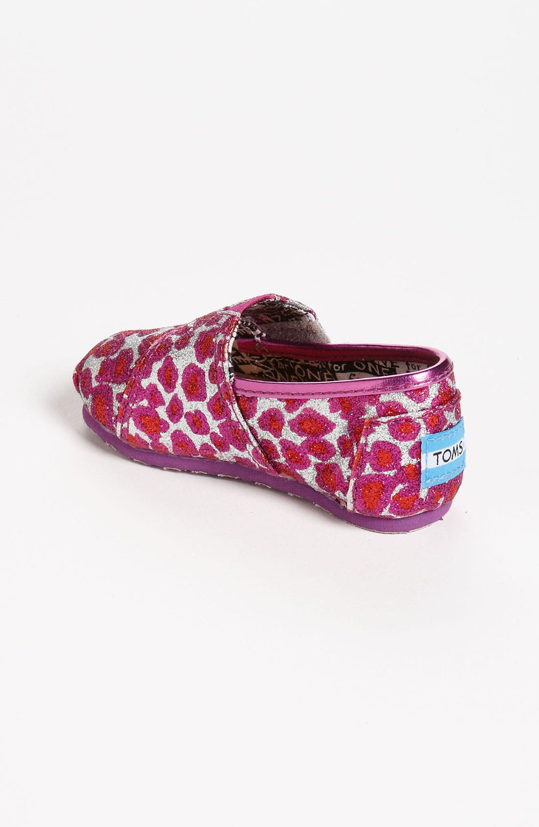 Alternate Image 2  - TOMS 'Classic Tiny - Glitter' Slip-On (Baby, Walker & Toddler)