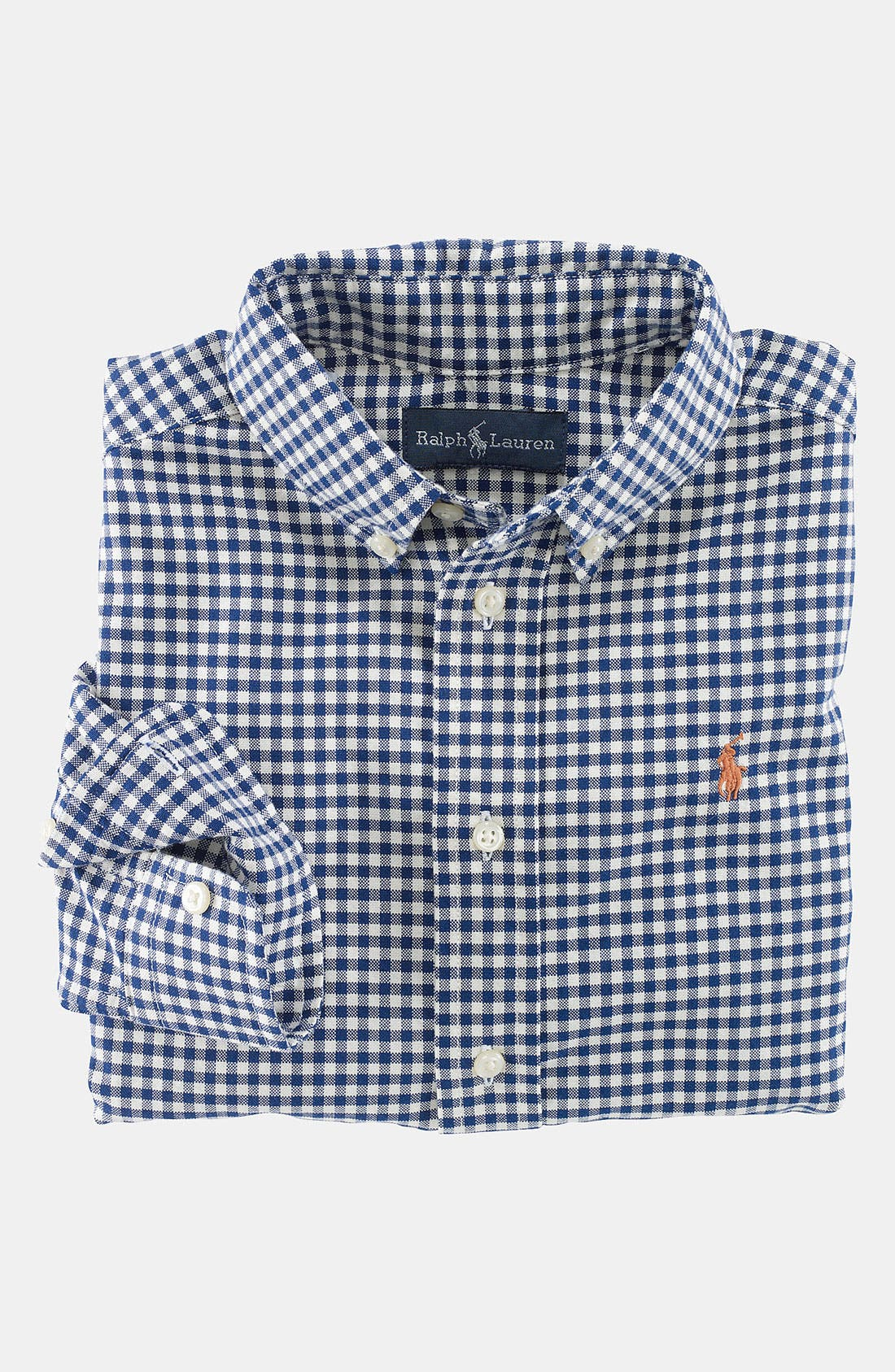 Alternate Image 1 Selected - Ralph Lauren Gingham Button Down Shirt (Toddler)