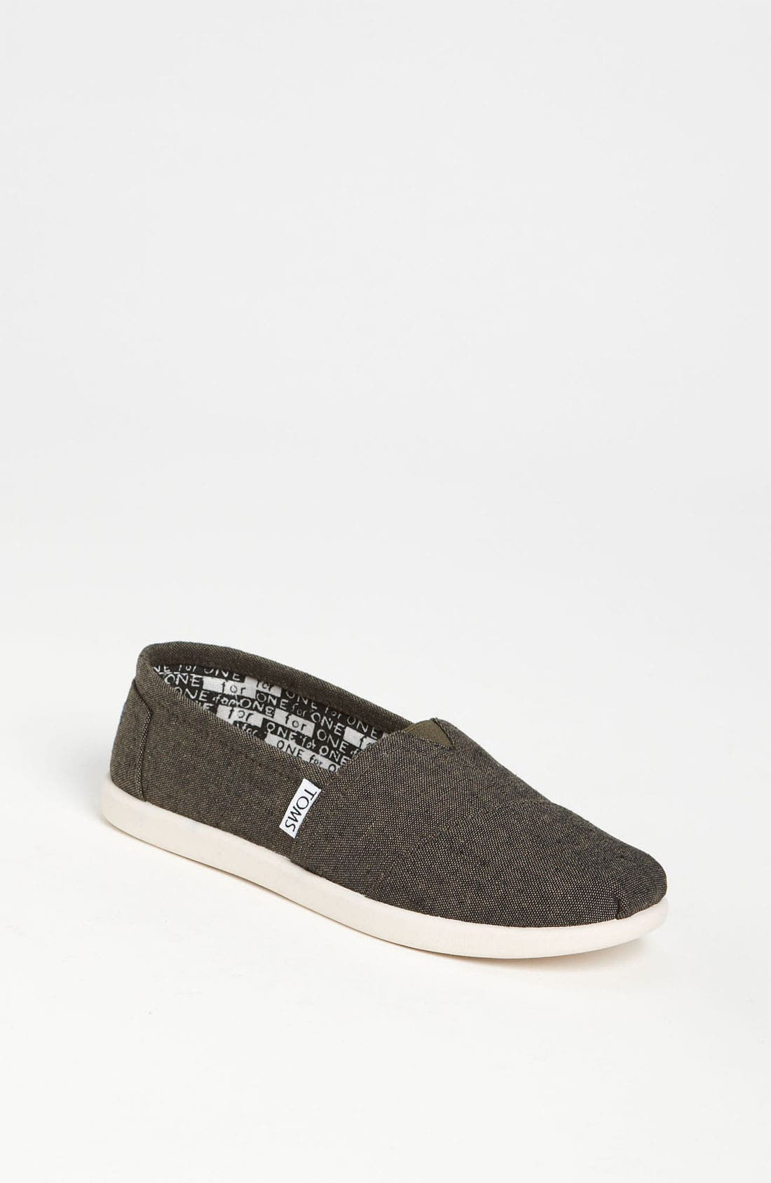 Main Image - TOMS 'Classic - Youth' Chambray Slip-On (Toddler, Little Kid & Big Kid)