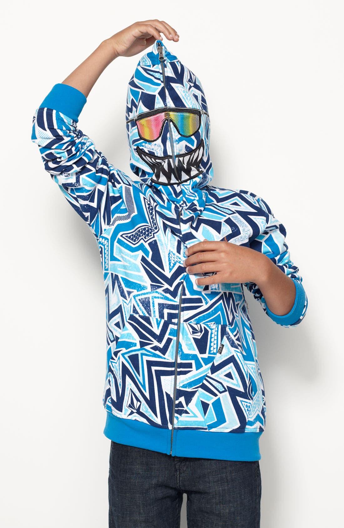 Alternate Image 2  - Volcom 'Ktex' Zip Up Mask Hoodie (Big Boys)