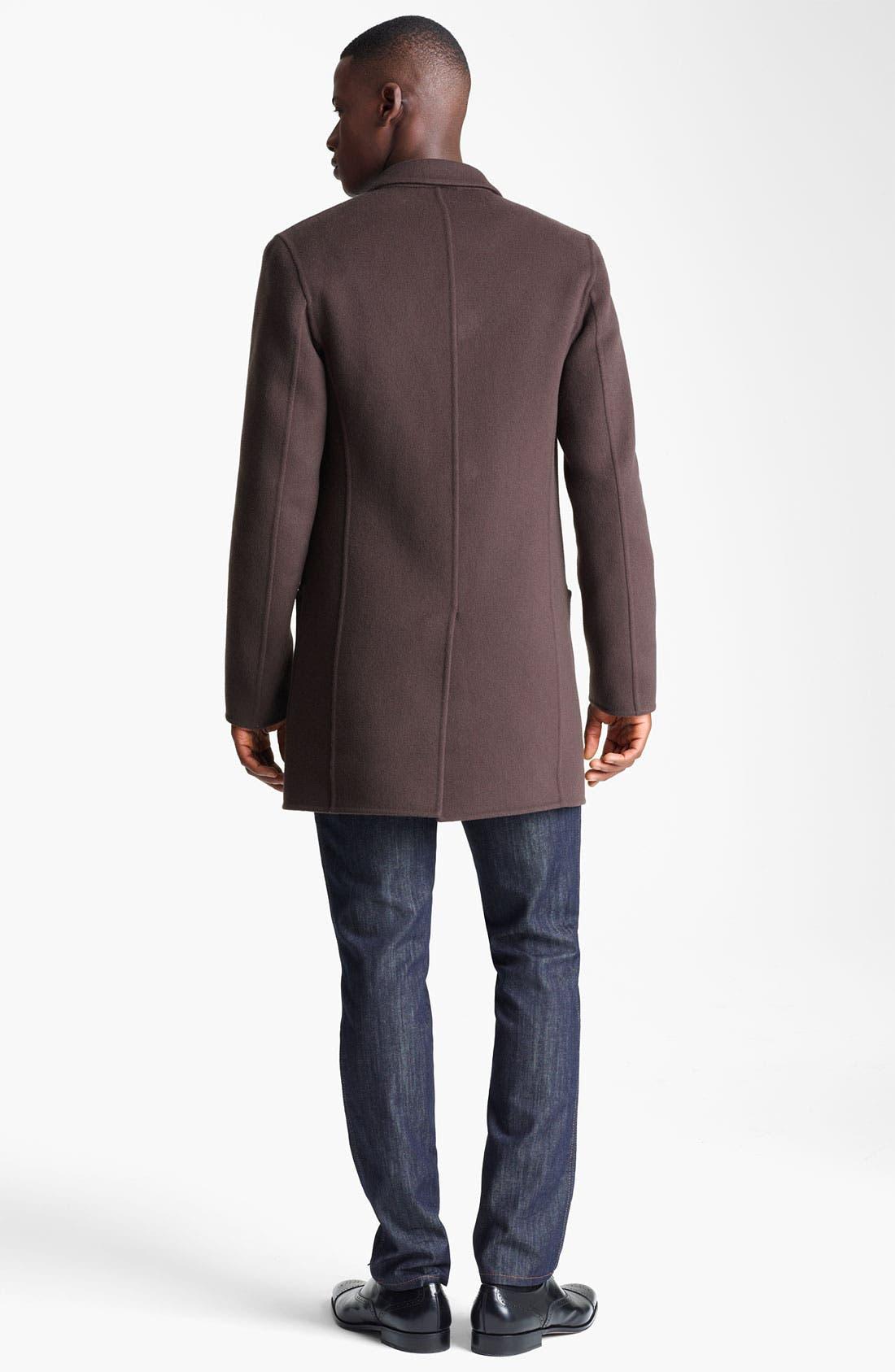 Alternate Image 5  - Salvatore Ferragamo 'Capotto Sportivo' Wool Coat
