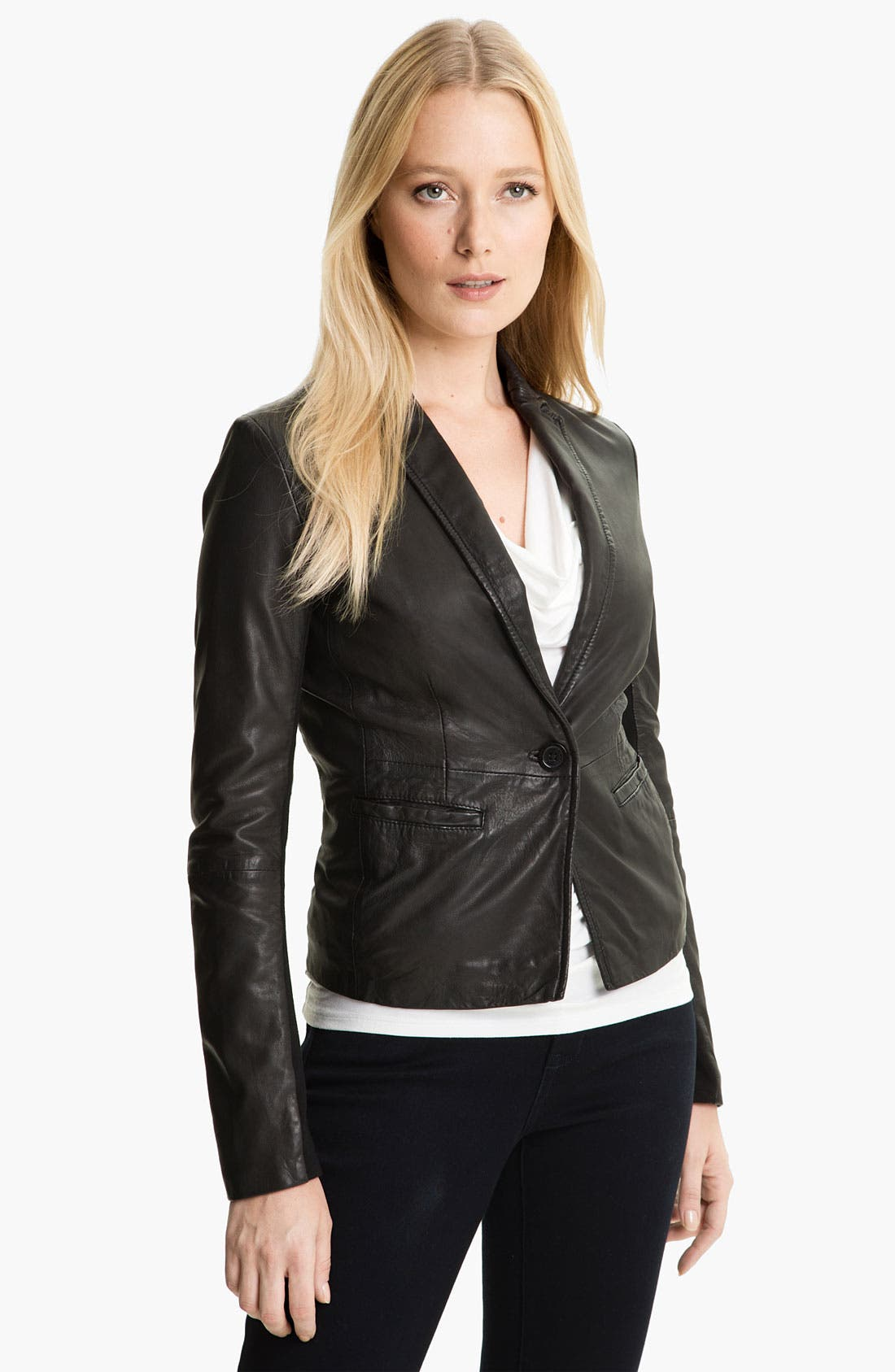 Alternate Image 4  - MICHAEL Michael Kors Leather Blazer