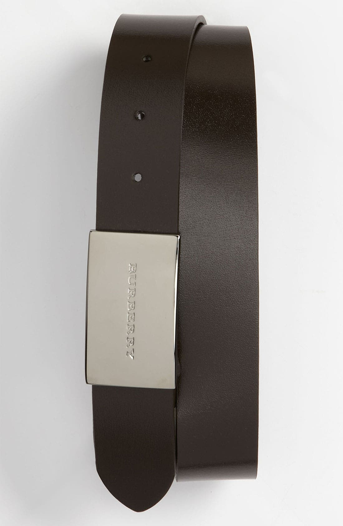 Alternate Image 1 Selected - Burberry Calfskin Leather Belt