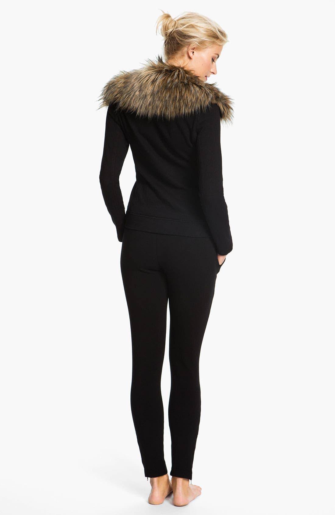 Alternate Image 5  - Pink Lotus 'Open Road' Faux Fur Trim Jacket