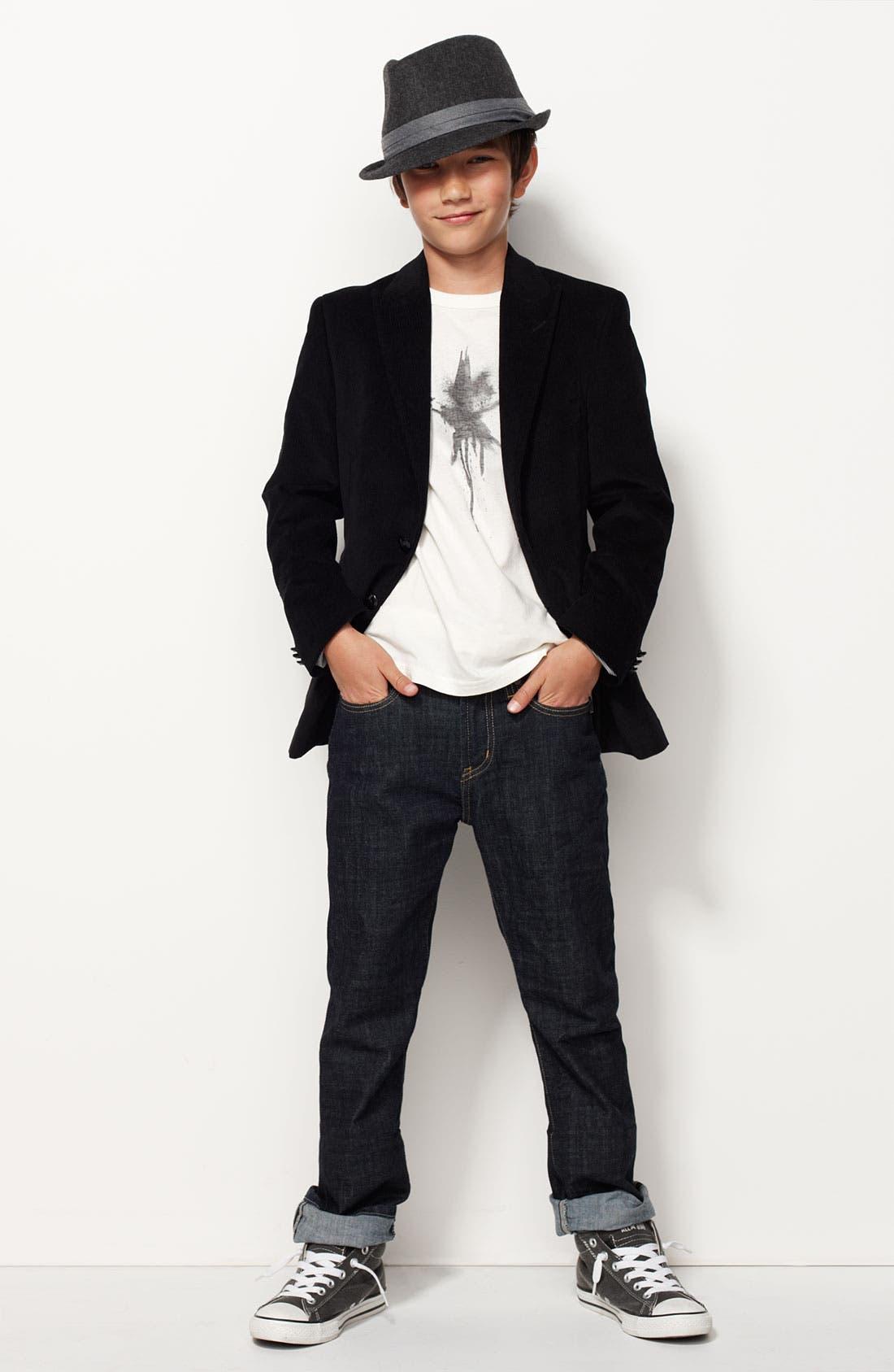 Alternate Image 2  - John Varvatos Star USA Corduroy Sportcoat (Big Boys)