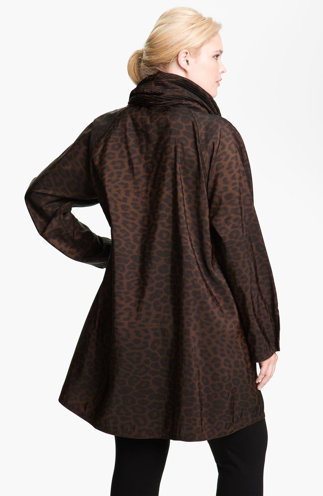 Alternate Image 2  - Mycra Pac Designer Wear 'Donatella' Scrunch Neck Travel Coat (Regular & Plus)