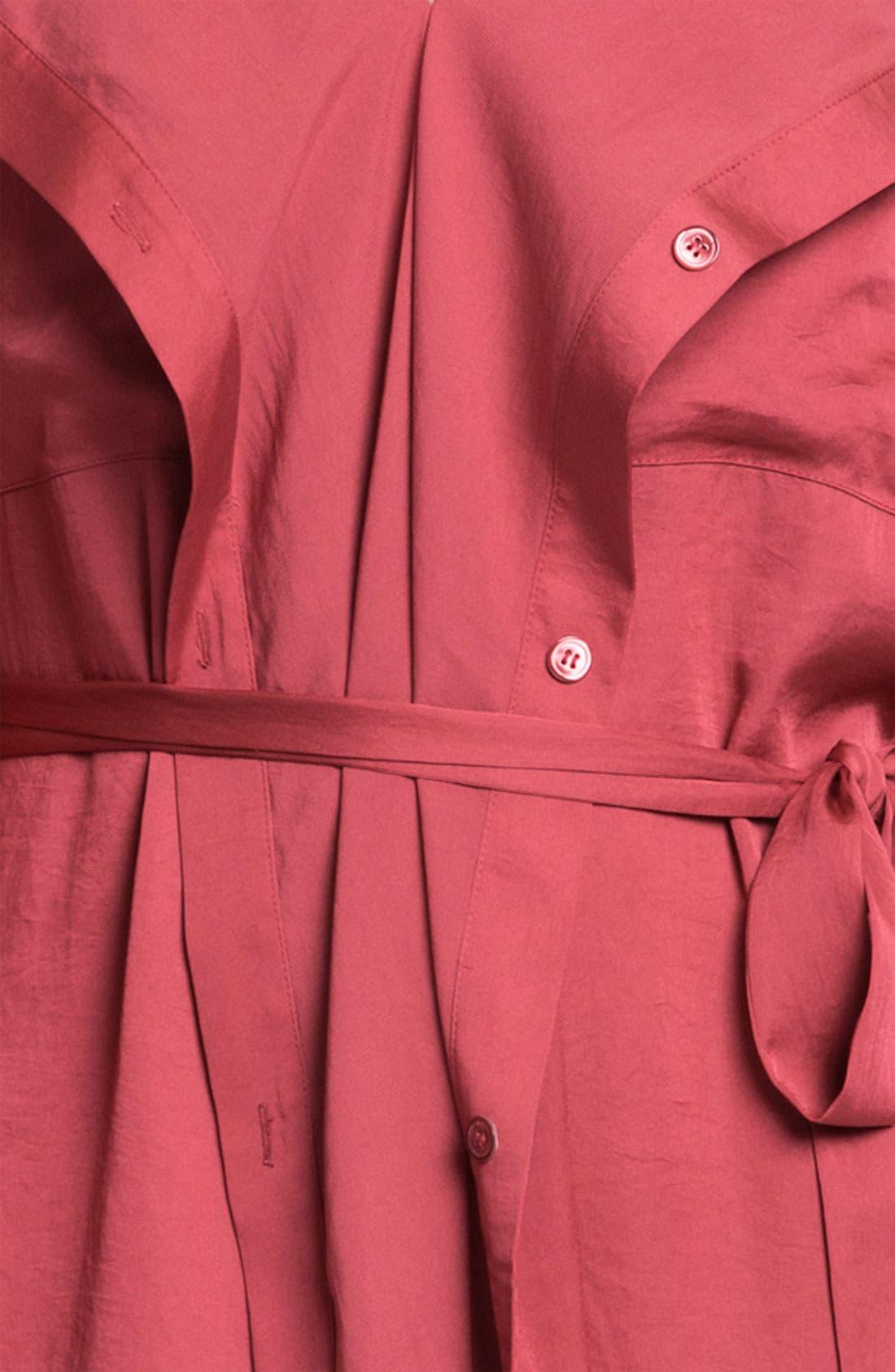 Alternate Image 3  - BCBGMAXAZRIA 'Tarin' Cascade Shirtdress