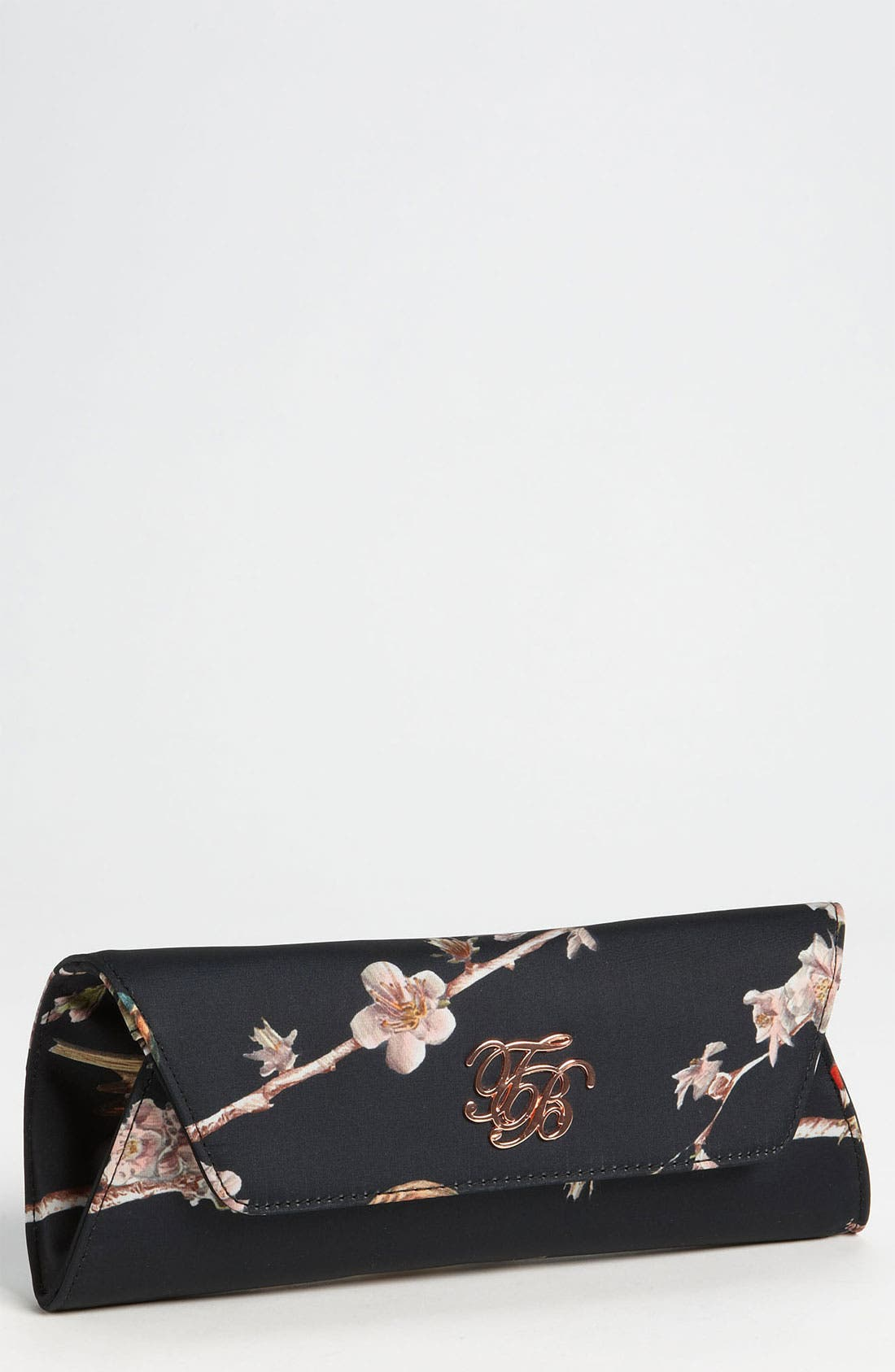 Main Image - Ted Baker London 'Birdie Branch' Satin Clutch