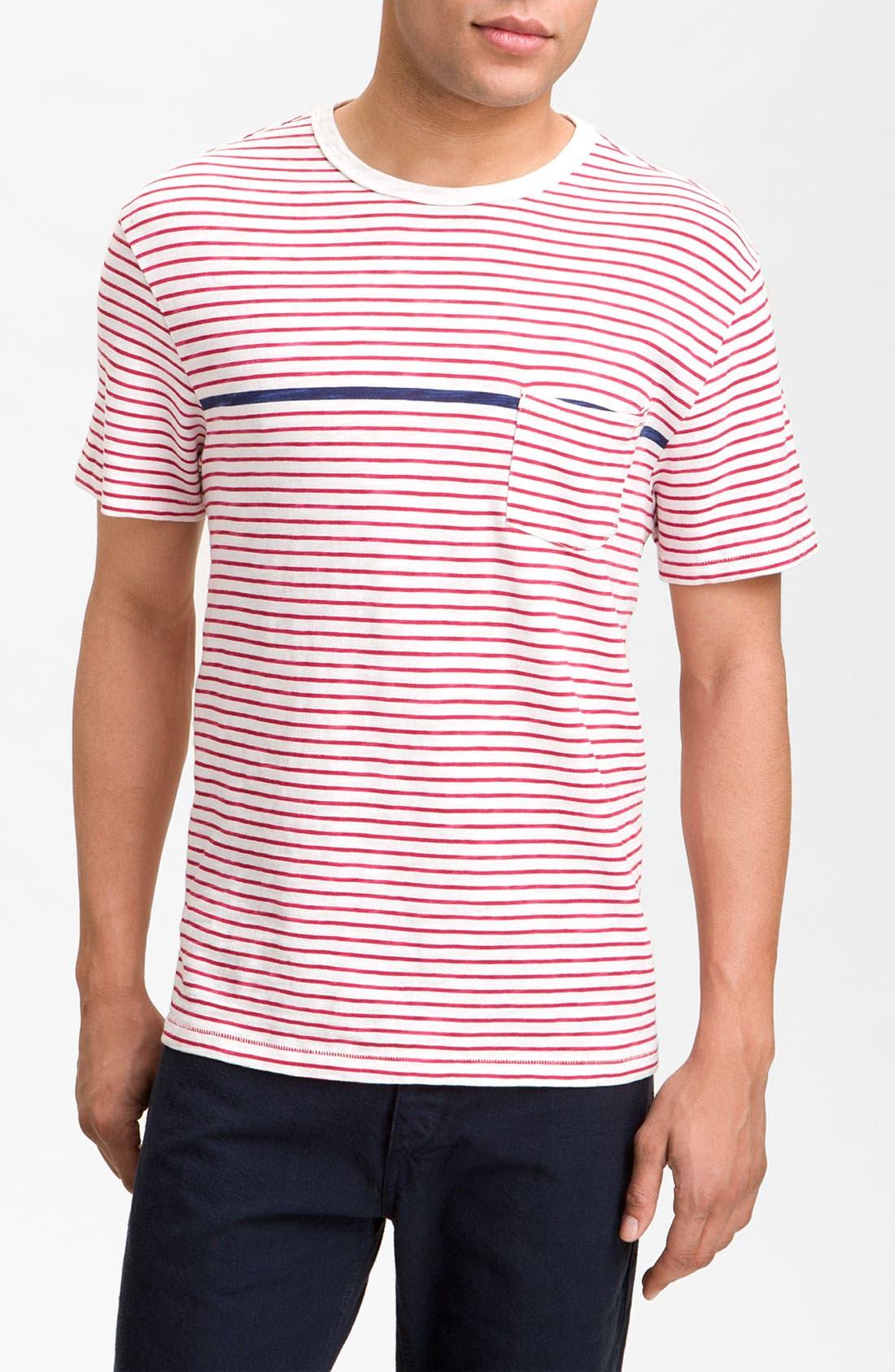 Main Image - rag & bone Stripe Pocket T-Shirt