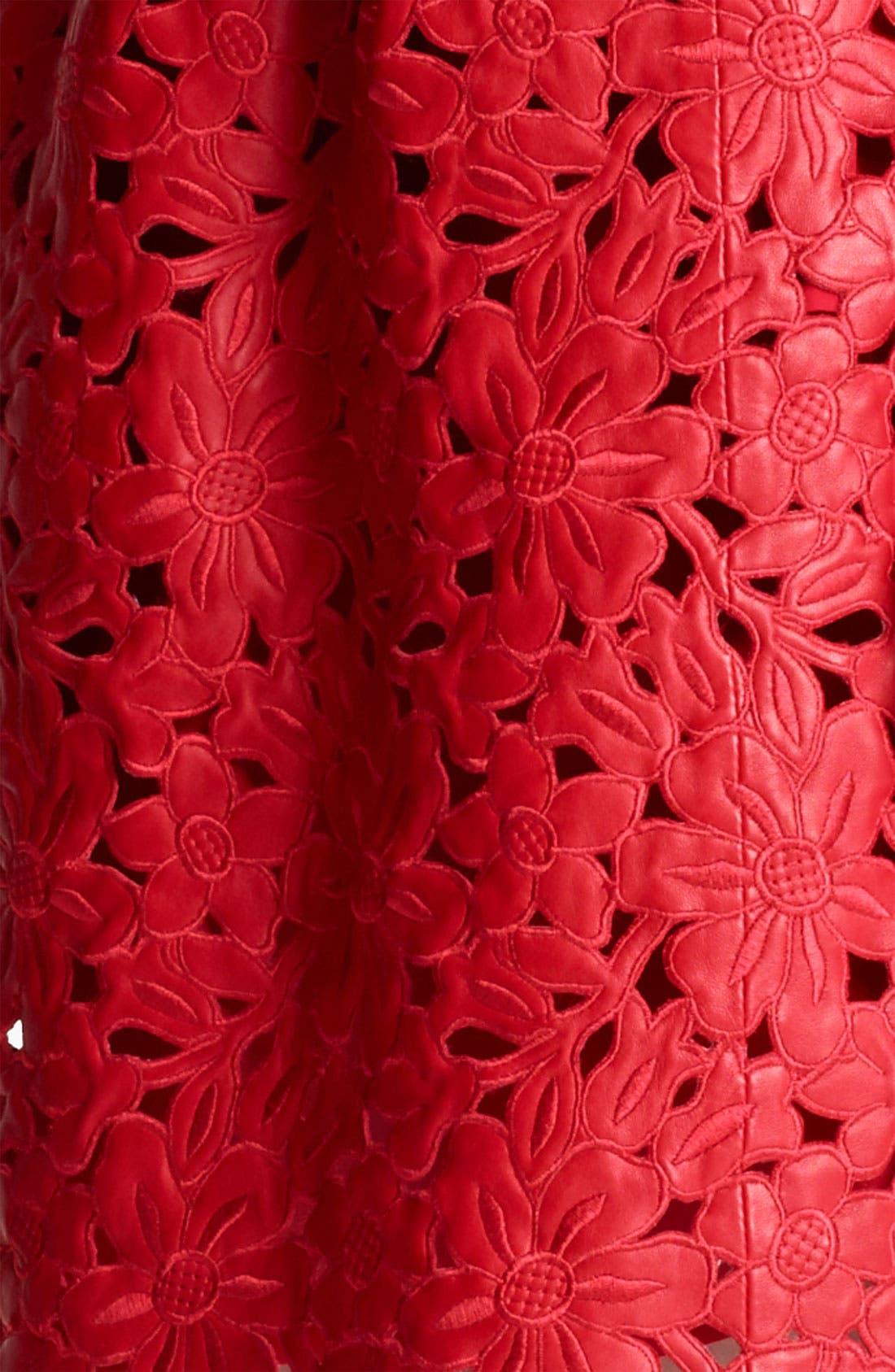 Alternate Image 3  - Valentino Laser Cut Leather Dress