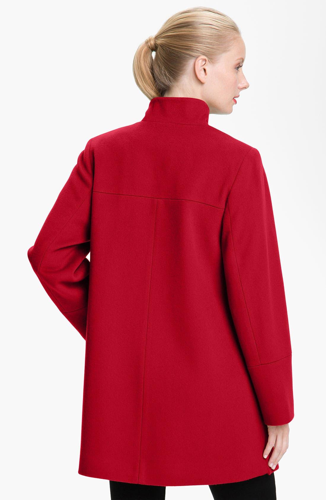Alternate Image 2  - Fleurette Stand Collar Coat