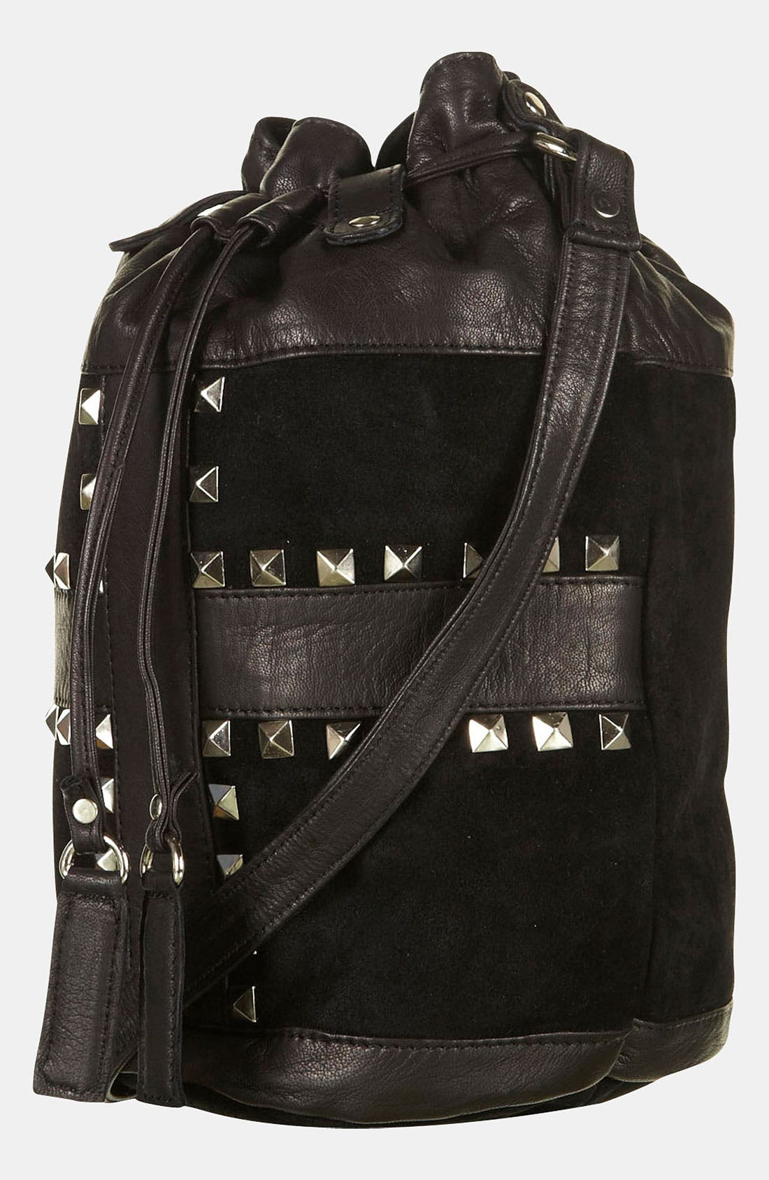 Alternate Image 1 Selected - Topshop 'Cross' Studded Duffle