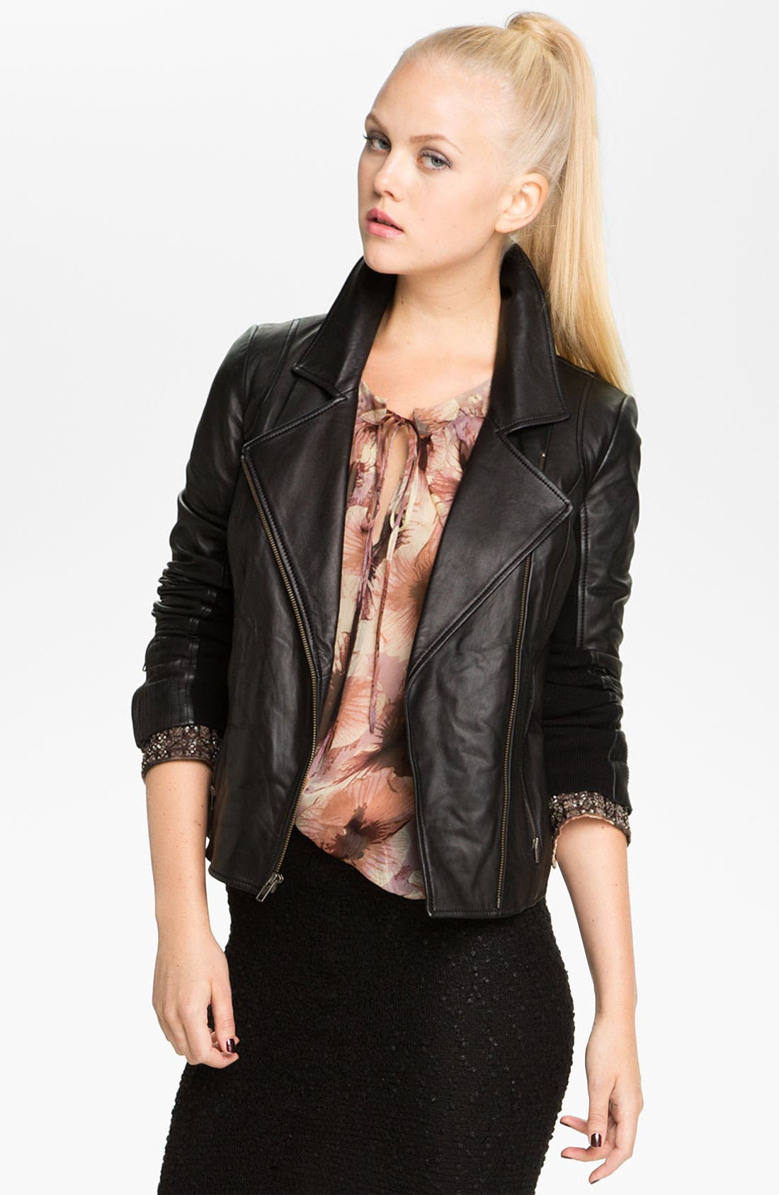 Alternate Image 1 Selected - Trouvé Leather Moto Jacket