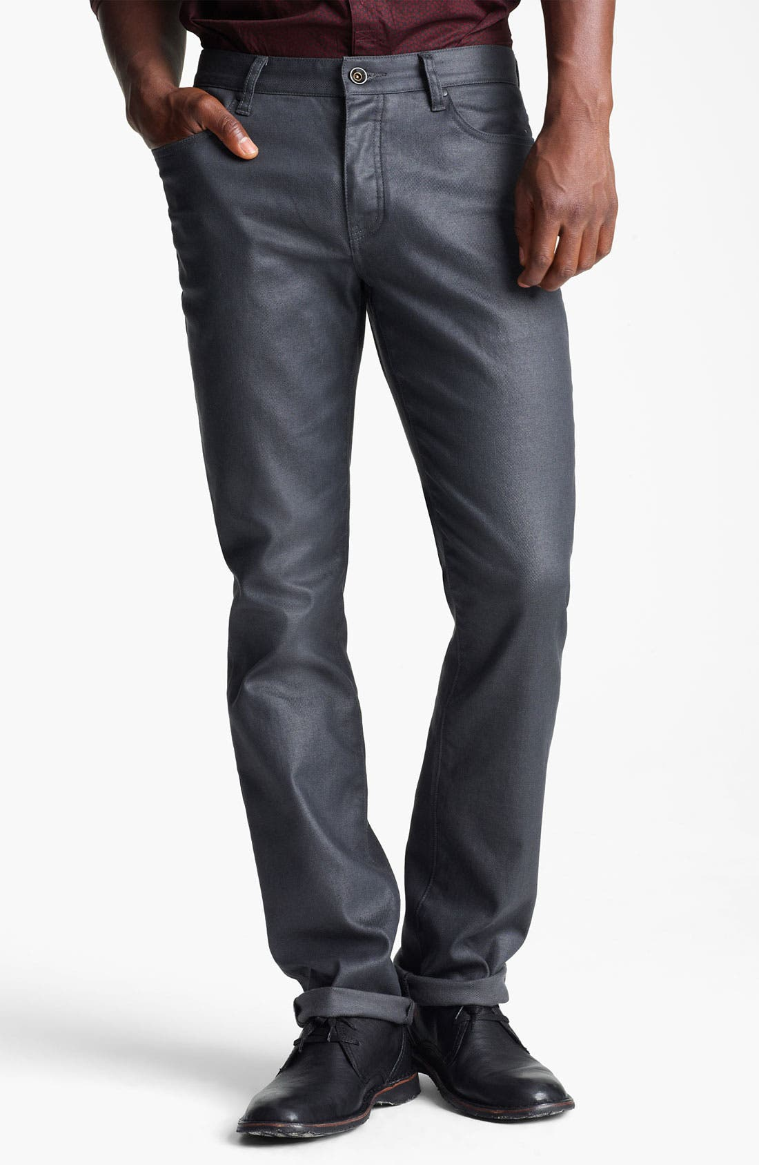 Alternate Image 1 Selected - John Varvatos Collection Slim Fit Jeans (Metal Grey)