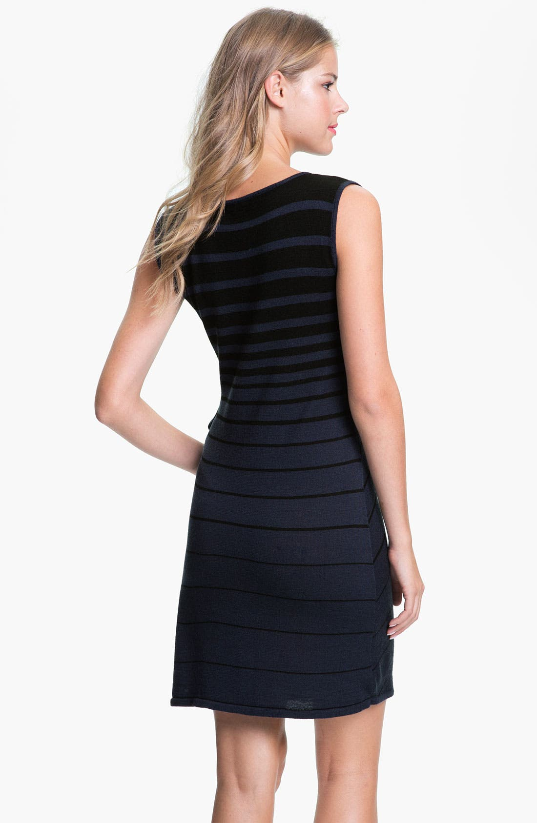 Alternate Image 2  - Tahari Stripe Side Tie Sweater Dress