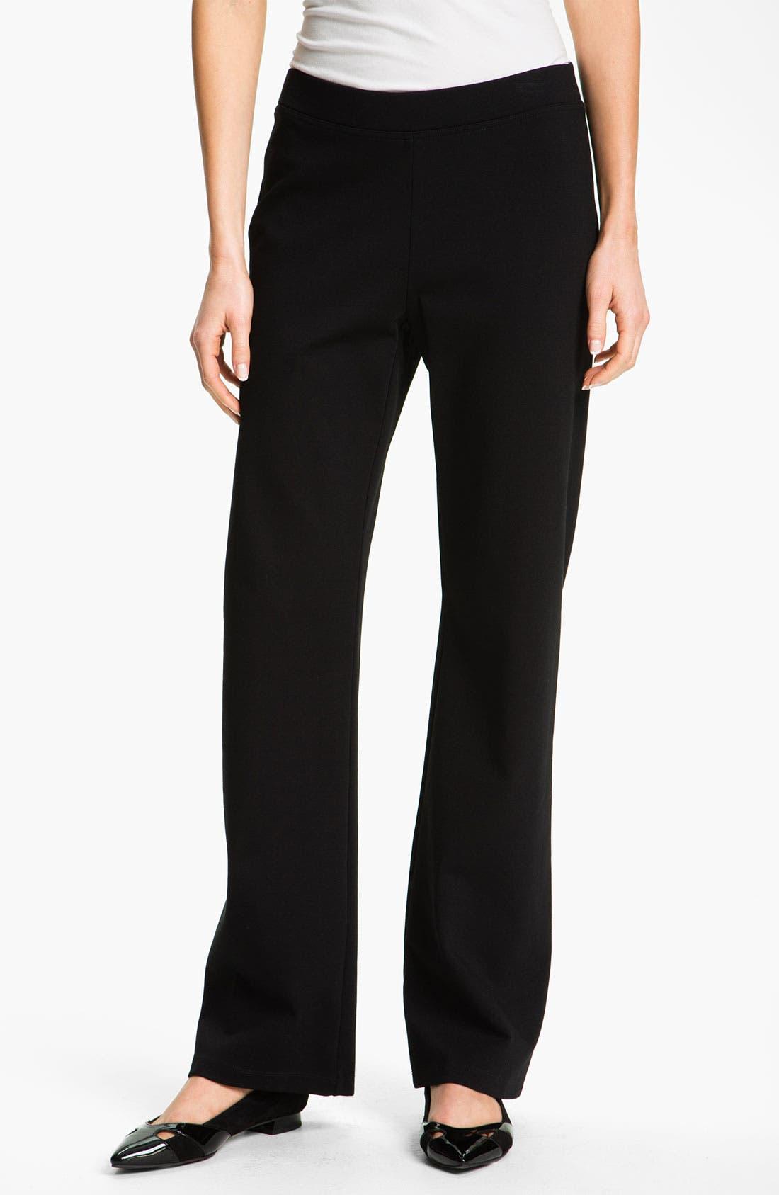 Alternate Image 1 Selected - Eileen Fisher Pull-On Straight Leg Pants