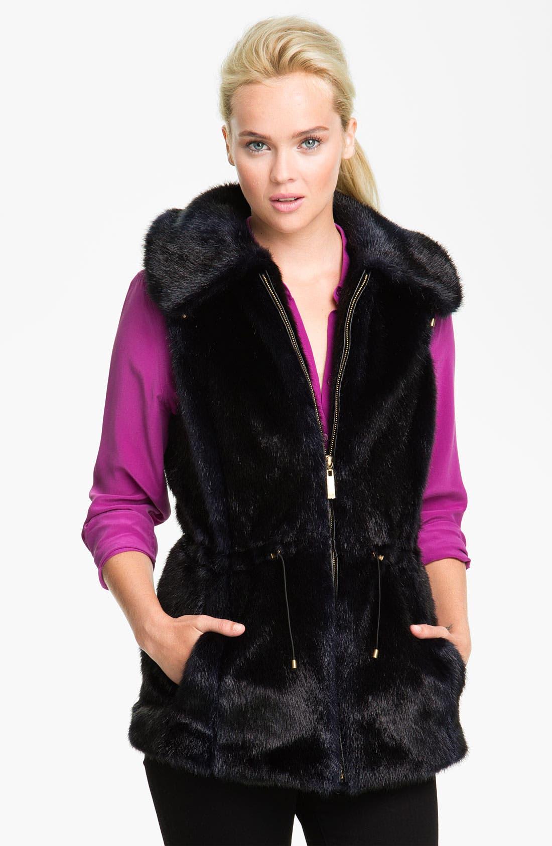 Alternate Image 1 Selected - Ellen Tracy Faux Fur Anorak Vest (Nordstrom Exclusive)