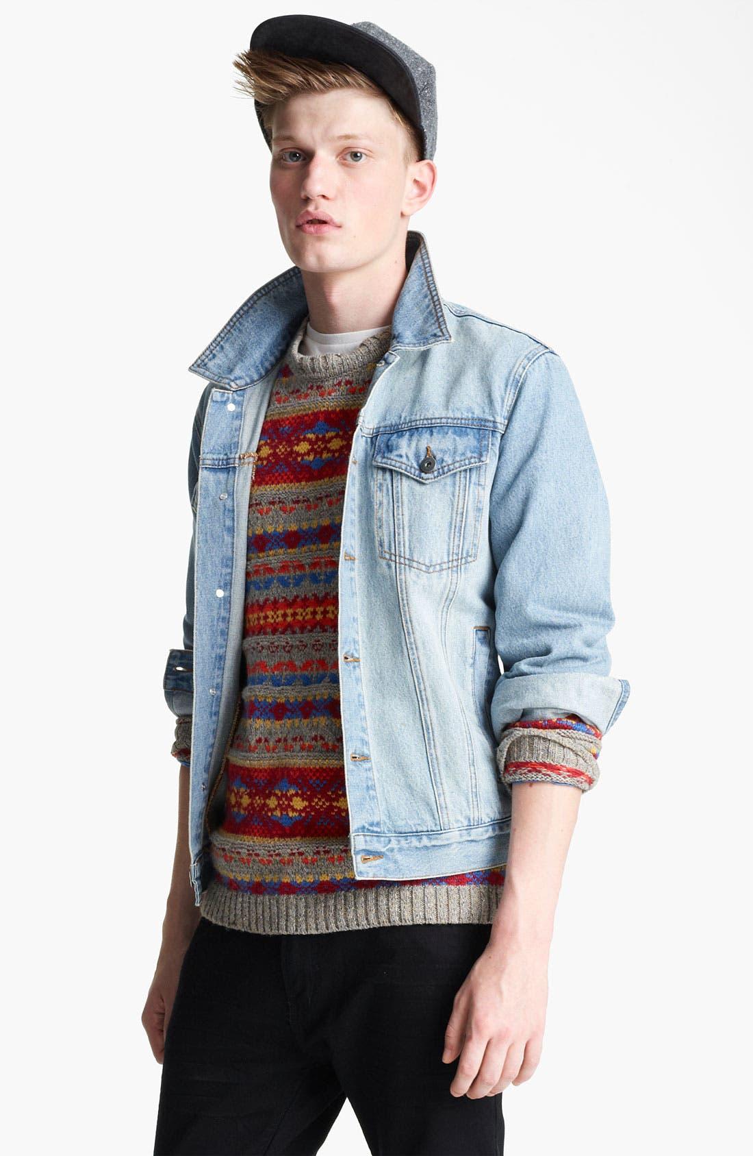 Main Image - Topman 'Cavendish' Denim Jacket