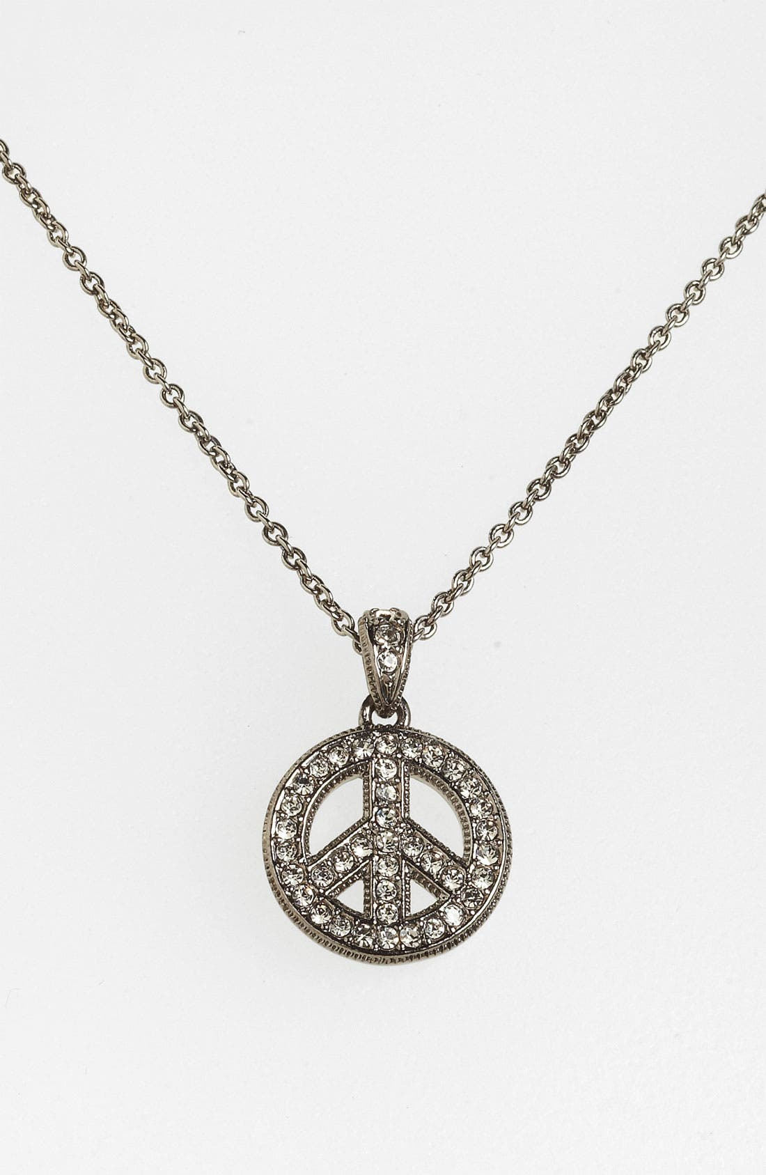 Alternate Image 1 Selected - Nadri 'Peace Sign' Pendant Necklace (Nordstrom Exclusive)
