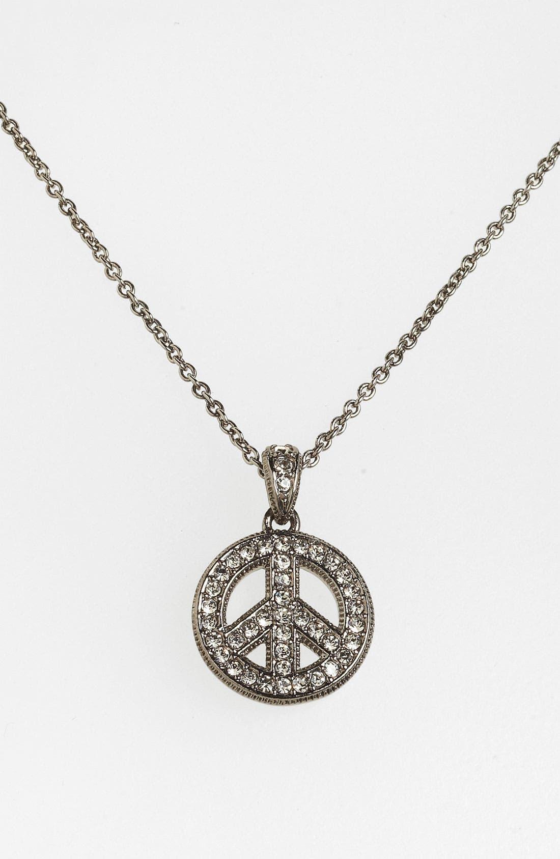 Main Image - Nadri 'Peace Sign' Pendant Necklace (Nordstrom Exclusive)